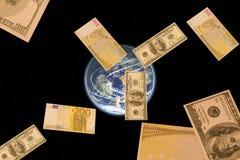 Geld ist immer Satelliten der Leute Lizenzfreies Stockfoto