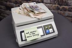 Geld ist nicht die Hauptleitung Stockbilder
