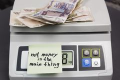 Geld ist nicht die Hauptleitung Lizenzfreies Stockbild
