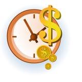 Geld ist Zeit Lizenzfreies Stockbild
