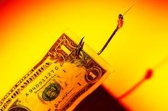 Geld-Köder Stockfoto