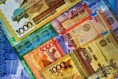 Geld-Kasachstan-Tenge stockbild