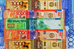 Geld-Kasachstan-Tenge lizenzfreie stockfotografie