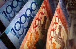 Geld Kazachstan stock afbeelding