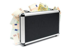 Geld-Koffer Lizenzfreies Stockfoto