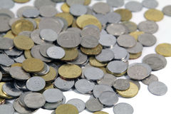 Geld-Konzept-Münzen lokalisiert Lizenzfreie Stockfotografie