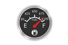 Geld-Kraftstoffanzeige Stockbild