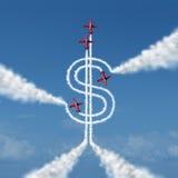 Geld-Leistung Stockfotos