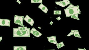 Geld-machen fallende Dollar Finanz-US-Währung es Regen lizenzfreie abbildung