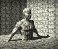Geld Man Lizenzfreies Stockfoto