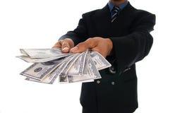 Geld-Mann stockbild
