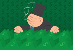 Geld-Mann mit Bargeld lizenzfreie abbildung