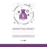 Geld Marketing Visie Bedrijfsideebanner met Exemplaarruimte Royalty-vrije Stock Foto