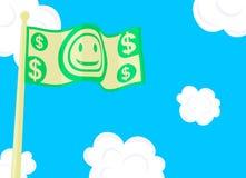 Geld-Markierungsfahne Lizenzfreie Stockbilder