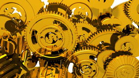 Geld-Maschine - Gänge u. Dollar (Animation 3D) stock abbildung