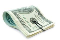 Geld met papier-klem Stock Afbeelding