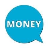 Geld met schaduw, Toespraakbel Royalty-vrije Stock Fotografie