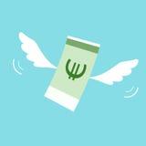Geld met vleugels vector illustratie