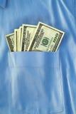 Geld in mijn zak stock foto