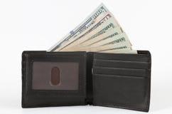Geld mit walllet Stockbild