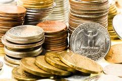 Geld (muntstukken) Stock Afbeelding