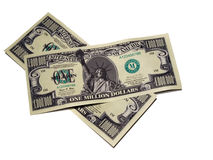 Geld - één miljoen dollar rekening Royalty-vrije Stock Foto's