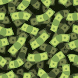 Geld naadloos patroon De Achtergrond van het contante geld De regen van het geld stock illustratie