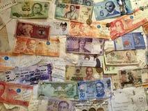 Geld noticeboard in Osaka royalty-vrije stock fotografie
