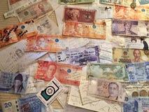 Geld noticeboard in Osaka royalty-vrije stock afbeelding