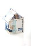 Geld om huis te kopen Stock Fotografie