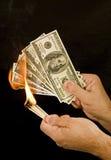 Geld om 1 te branden Stock Fotografie