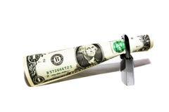 Geld onder bescherming Royalty-vrije Stock Afbeelding