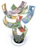 Geld onderaan het Afvoerkanaal Stock Fotografie