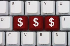 Geld Online verdienen stockbild