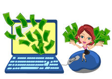 Geld Online verdienen Lizenzfreies Stockbild