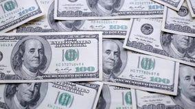 Geld op de lijst stock footage