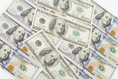Geld op de witte achtergrond Stock Fotografie
