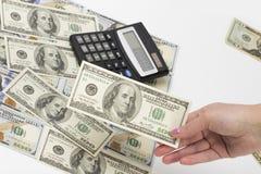 Geld op de witte achtergrond Stock Foto