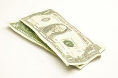 Geld op een witte achtergrond Royalty-vrije Stock Foto's