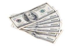 Geld op een witte achtergrond Stock Afbeeldingen