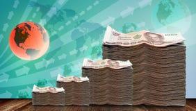 Geld op investering is gegroeid die stock illustratie