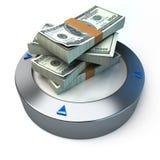 Geld op platform Stock Foto