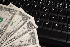 Geld op toetsenbord