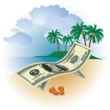 Geld op Vakantie Stock Foto's