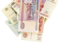 Geld op wit Royalty-vrije Stock Fotografie