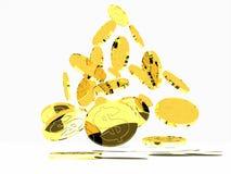 Geld op wit Royalty-vrije Stock Afbeeldingen