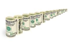 Geld op witte achtergrond Royalty-vrije Stock Foto's