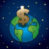 Geld ordnet Erde an Lizenzfreie Stockfotografie