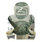 Geld-Origami BUDDHAReal ein Dollar Bill Isolated auf weißem Hintergrund stockfotografie