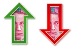 Geld-Pfeile Stockfotografie
